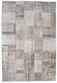 Patchwork Rug 205X303 Authentic  Modern Handknotted Light Grey (Wool, Turkey)
