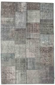 Patchwork Rug 197X303 Authentic  Modern Handknotted Dark Grey/Light Grey (Wool, Turkey)