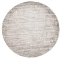 Bamboo Silk Loom - Warm Grey Rug Ø 150 Modern Round Light Grey ( India)