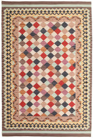Kilim Caspian Rug 190X290 Authentic  Modern Handwoven Light Brown/Beige (Wool, India)