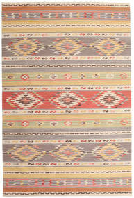 Kilim Nimrud Rug 190X290 Authentic  Modern Handwoven Light Grey/Dark Beige (Wool, India)