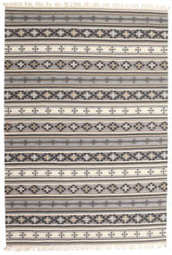 Kilim Cizre Rug 190X290 Authentic  Modern Handwoven Light Grey/Beige (Wool, India)