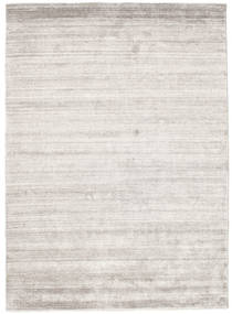 Bamboo Silk Loom - Warm Grey Rug 140X200 Modern Light Grey ( India)