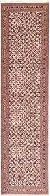 Tabriz 50 Raj Rug 75X295 Authentic  Oriental Handknotted Hallway Runner  Brown/Beige (Wool/Silk, Persia/Iran)