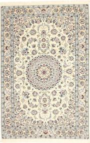 Nain 6La Rug 117X184 Authentic  Oriental Handknotted Beige/Light Grey (Wool/Silk, Persia/Iran)
