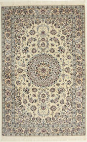 Nain 6La Rug 118X182 Authentic  Oriental Handknotted Light Grey/Beige (Wool/Silk, Persia/Iran)