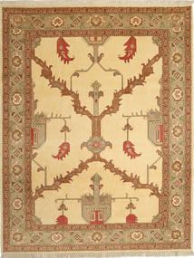 Tabriz 40 Raj Rug 230X295 Authentic  Oriental Handknotted Light Brown/Dark Beige (Wool/Silk, Persia/Iran)