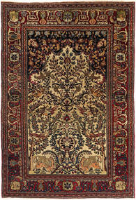 Isfahan Antique Rug 140X205 Authentic  Oriental Handknotted Dark Brown/Light Brown (Wool, Persia/Iran)