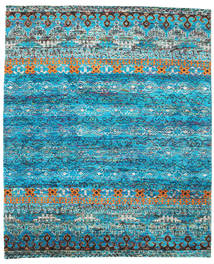 Quito - Turquoise Rug 240X290 Authentic Modern Handknotted Turquoise Blue/Blue (Silk, India)