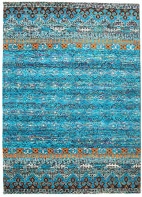 Quito - Turquoise Rug 240X340 Authentic Modern Handknotted Turquoise Blue/Light Grey (Silk, India)