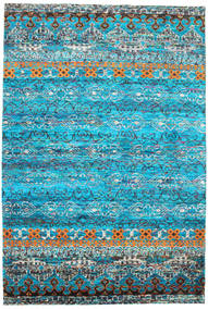 Quito - Turquoise Rug 190X290 Authentic  Modern Handknotted Turquoise Blue/Blue (Silk, India)