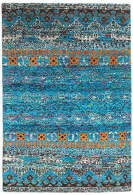 Quito - Turquoise Rug 160X230 Authentic  Modern Handknotted Turquoise Blue/Dark Grey (Silk, India)