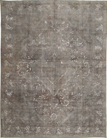 Colored Vintage Rug 290X379 Authentic  Modern Handknotted Light Grey/Dark Grey Large (Wool, Persia/Iran)