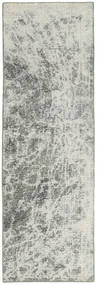 Colored Vintage Rug 70X230 Authentic  Modern Handknotted Hallway Runner  Light Grey/Dark Grey (Wool, Persia/Iran)