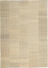 Kilim Modern Rug 205X301 Authentic  Modern Handwoven Light Grey/Dark Beige/Beige (Wool, Persia/Iran)