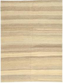 Kilim Modern Rug 154X204 Authentic  Modern Handwoven Beige/Dark Beige (Wool, Persia/Iran)