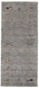 Gabbeh Loom Frame - Grey Rug 80X200 Modern Hallway Runner  Light Grey/Dark Grey (Wool, India)