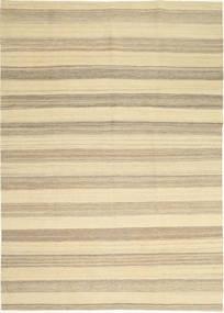 Kilim Modern Rug 174X246 Authentic  Modern Handwoven Beige/Light Grey (Wool, Persia/Iran)