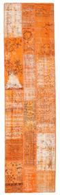 Patchwork Rug 79X300 Authentic  Modern Handknotted Hallway Runner  Orange/Light Brown (Wool, Turkey)