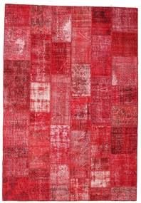 Patchwork Rug 201X295 Authentic  Modern Handknotted Crimson Red/Pink/Rust Red (Wool, Turkey)
