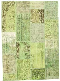 Patchwork Rug 161X224 Authentic  Modern Handknotted Light Green (Wool, Turkey)
