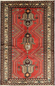 Saveh Rug 130X195 Authentic Oriental Handknotted Light Brown/Dark Brown (Wool, Persia/Iran)