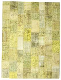 Patchwork Rug 304X400 Authentic  Modern Handknotted Yellow/Olive Green Large (Wool, Turkey)