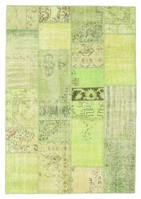 Patchwork Rug 161X233 Authentic  Modern Handknotted Light Green (Wool, Turkey)