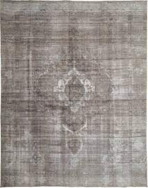 Colored Vintage Rug 292X373 Authentic  Modern Handknotted Light Grey/Dark Grey Large (Wool, Persia/Iran)