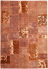 Patchwork Rug 166X243 Authentic  Modern Handknotted Crimson Red/Dark Red (Wool, Persia/Iran)