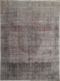 Colored Vintage Rug 289X390 Authentic  Modern Handknotted Light Grey/Dark Brown/Dark Grey Large (Wool, Persia/Iran)
