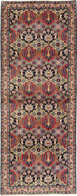 Najafabad Rug 112X293 Authentic  Oriental Handknotted Hallway Runner  Dark Brown/Dark Red (Wool, Persia/Iran)
