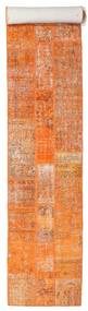 Patchwork Rug 81X604 Authentic  Modern Handknotted Hallway Runner  Orange/Light Brown (Wool, Turkey)