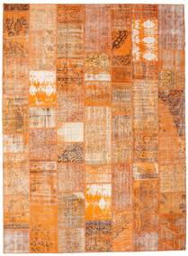Patchwork Rug 274X373 Authentic  Modern Handknotted Orange/Light Brown Large (Wool, Turkey)