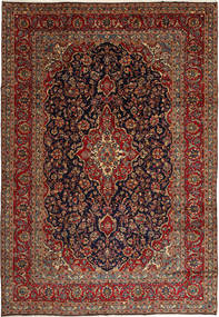 Keshan Rug 250X360 Authentic  Oriental Handknotted Dark Red/Black Large (Wool, Persia/Iran)