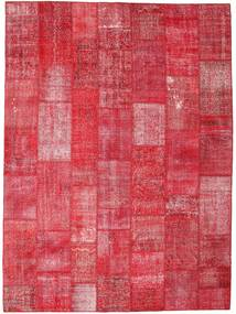 Patchwork Rug 275X374 Authentic  Modern Handknotted Rust Red/Crimson Red/Pink Large (Wool, Turkey)