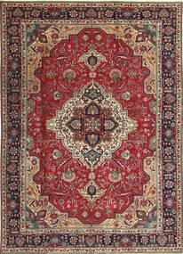 Tabriz Patina Rug 203X288 Authentic Oriental Handknotted Dark Red/Dark Brown (Wool, Persia/Iran)
