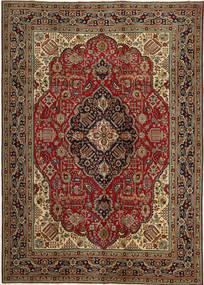 Tabriz Patina Rug 248X345 Authentic  Oriental Handknotted Dark Brown/Dark Red (Wool, Persia/Iran)