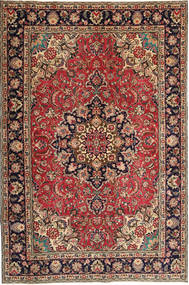 Tabriz Patina Rug 190X295 Authentic  Oriental Handknotted Dark Red/Dark Brown (Wool, Persia/Iran)