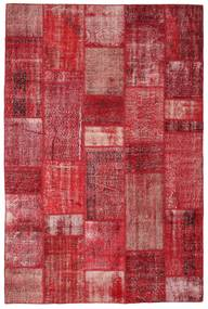 Patchwork Rug 201X305 Authentic  Modern Handknotted Crimson Red/Rust Red (Wool, Turkey)