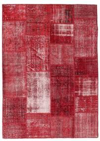 Patchwork Rug 163X229 Authentic  Modern Handknotted Crimson Red/Dark Red (Wool, Turkey)