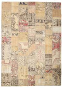 Patchwork Rug 254X355 Authentic  Modern Handknotted Beige/Light Grey/Light Brown Large (Wool, Turkey)