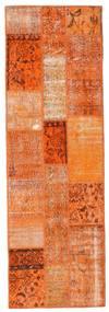 Patchwork Rug 79X247 Authentic  Modern Handknotted Hallway Runner  Orange/Light Brown (Wool, Turkey)