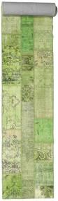 Patchwork Rug 81X600 Authentic  Modern Handknotted Hallway Runner  Light Green/Beige (Wool, Turkey)