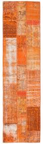 Patchwork Rug 80X305 Authentic  Modern Handknotted Hallway Runner  Orange/Light Brown (Wool, Turkey)