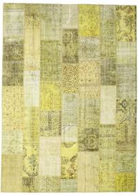 Patchwork Rug 252X352 Authentic  Modern Handknotted Yellow/Light Green Large (Wool, Turkey)