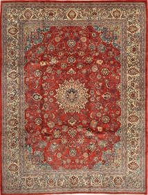 Mahal Rug 270X363 Authentic  Oriental Handknotted Light Brown/Brown Large (Wool, Persia/Iran)