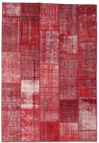 Patchwork Rug 202X298 Authentic  Modern Handknotted Crimson Red/Dark Red/Rust Red (Wool, Turkey)