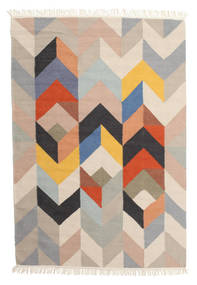 Reflection Rug 140X200 Authentic Modern Handwoven Light Grey/Light Brown (Wool, India)