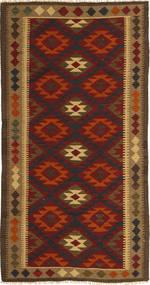 Kilim Maimane Rug 97X198 Authentic  Oriental Handwoven Dark Brown/Dark Red (Wool, Afghanistan)
